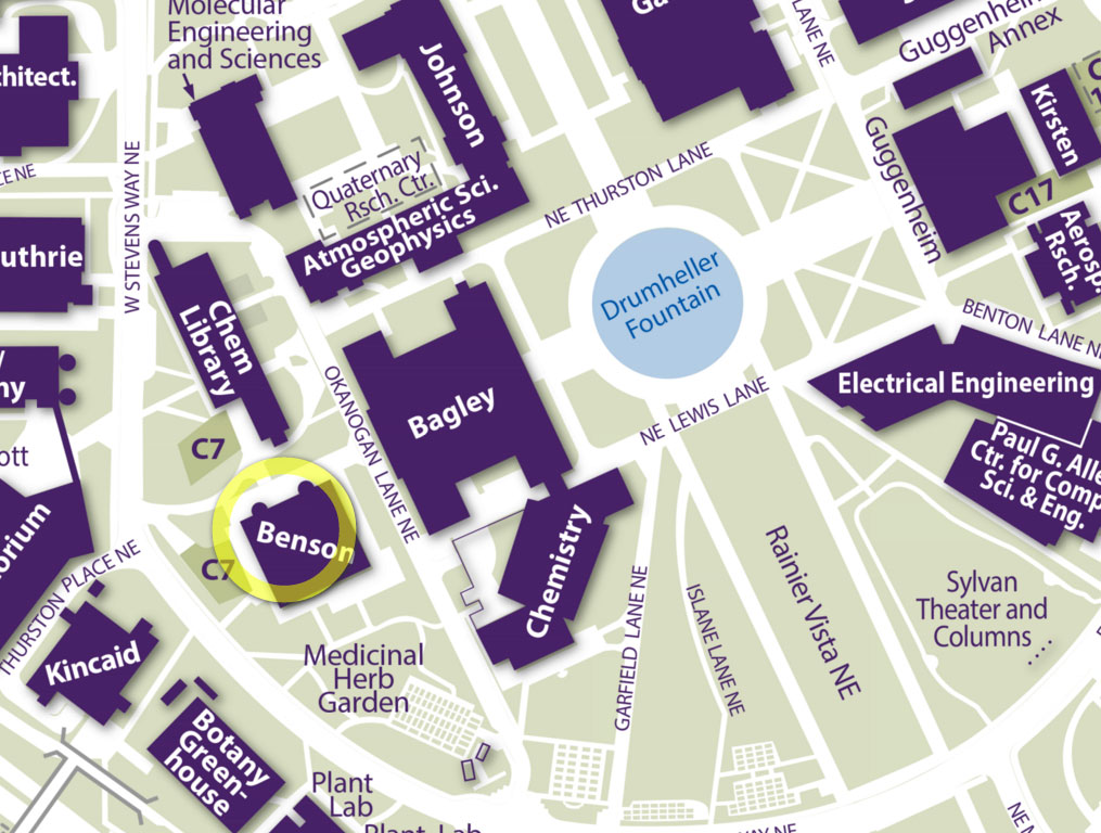 Benson Hall map excerpt