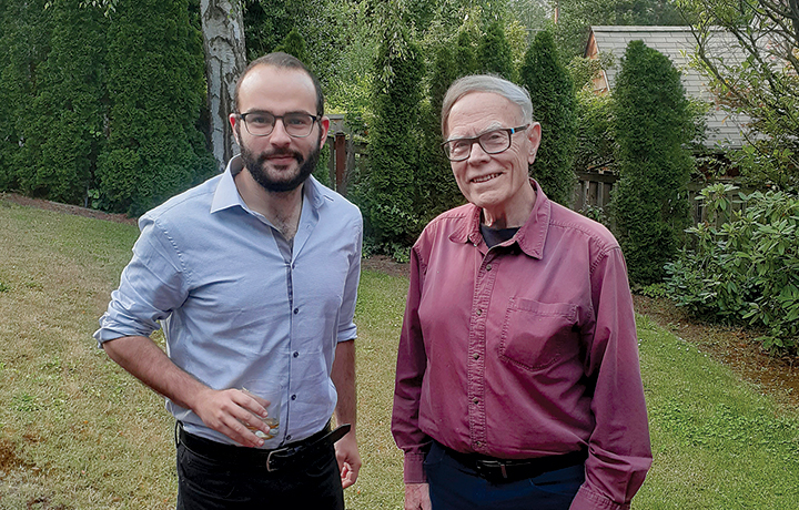 professor john berg and student ryan gharios