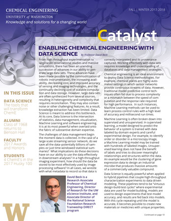 UW ChemE Catalyst Fall 2016